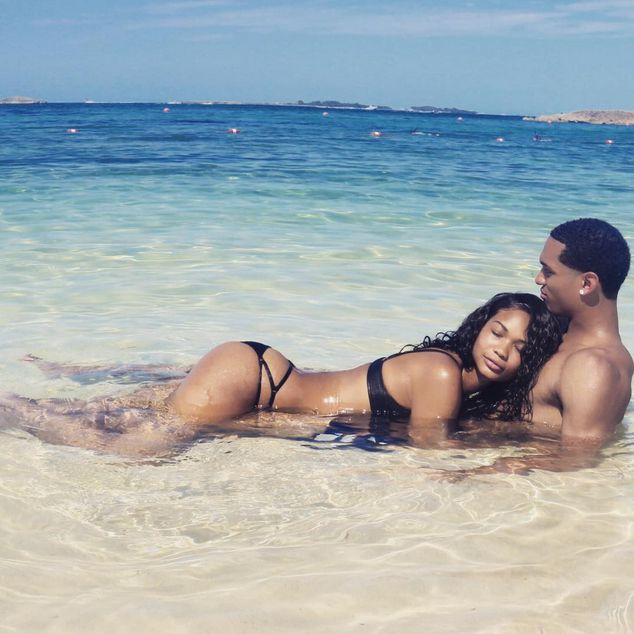 Love and the Beach...Jordan Clarkson and Chanel Iman