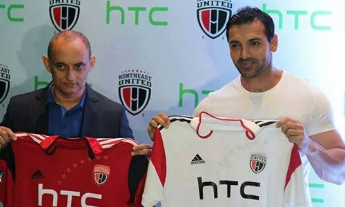 HTC: John Abraham unveils the NorthEast United FC Team Jersey for Hero Indian Super League  Read More: http://www.techmagnifier.com/news/htc-john-abraham-unveils-northeast-united-fc-team-jersey-hero-indian-super-league/   #HTC #Indian #FC #John #Abraham