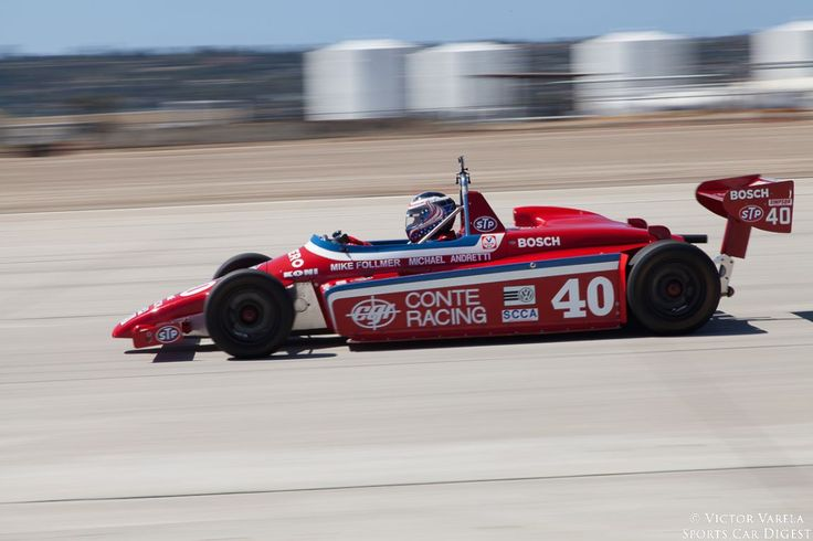 Mike Follmer races out of turn 9 in his 1982 Ralt RT5.