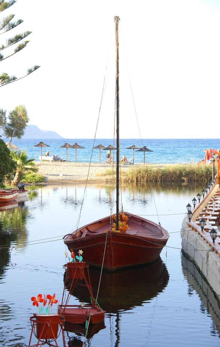 Kalives sandy beach in Chania, Crete, Greece