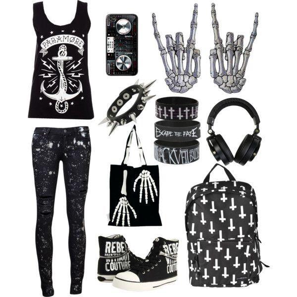 Style / emo / punk / rock / black / merch / anchor