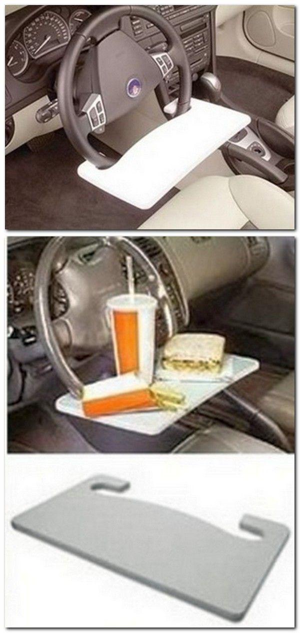 tray for eating in the car // Bandeja para comer en el coche. #DIY