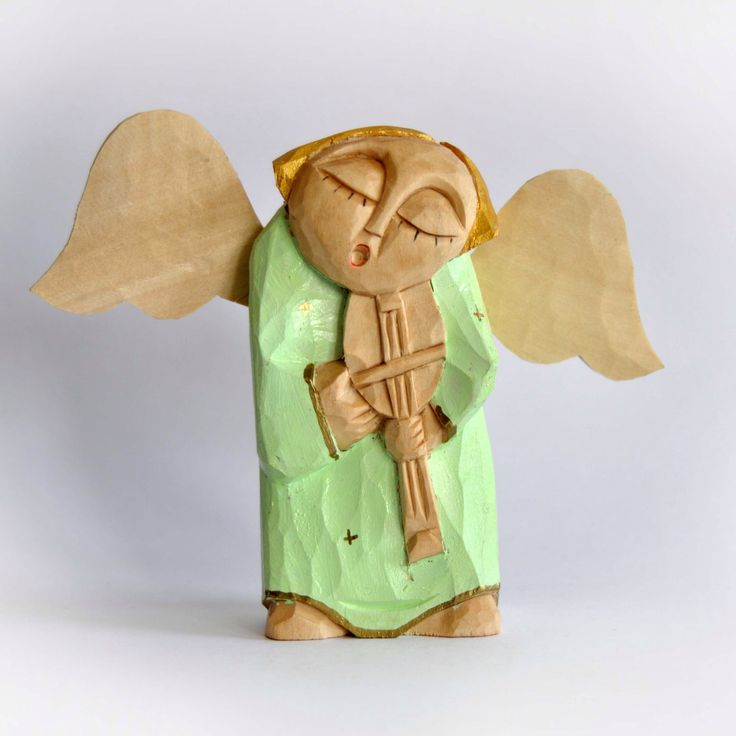 ANGEL handcrafted small wooden sculpture by KAPELA on Etsy https://www.etsy.com/listing/163105579/angel-handcrafted-small-wooden-sculpture