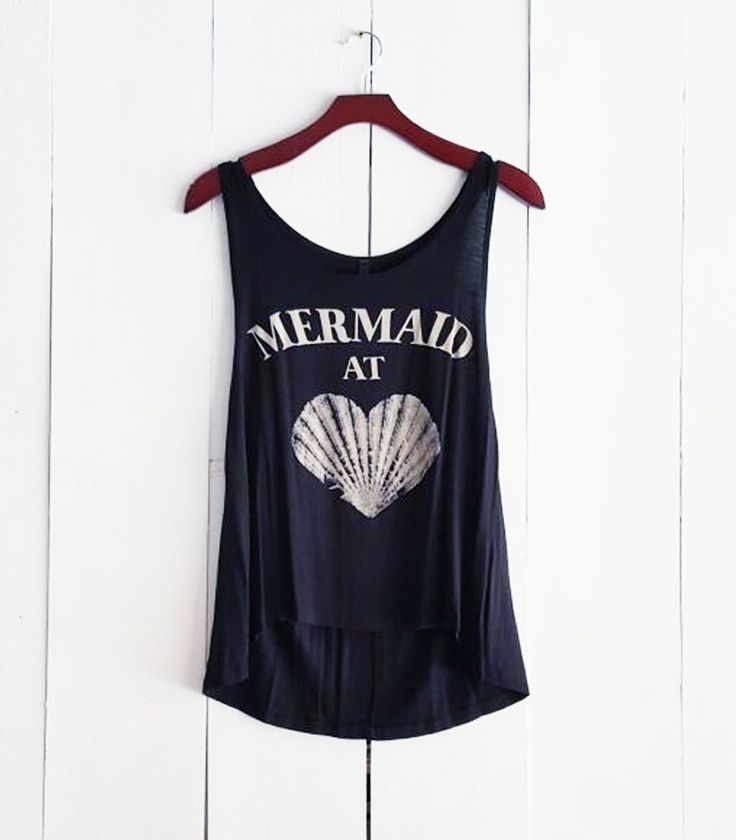 Mermaid at Heart Tank, Black