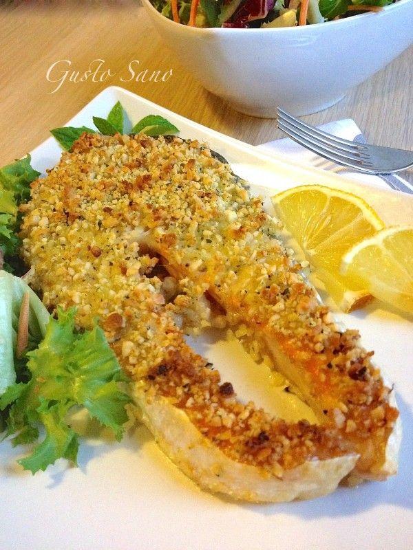 Ricetta: Salmone gratinato al forno (mandorle e menta)