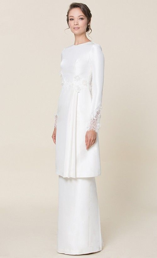 nh by NURITA HARITH étoile - LILY Kurung in White - NH by Nurita Harith | FashionValet