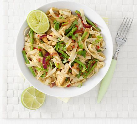 A flash-in-the-pan noodle dish that's flavoursome, low fat and fast for those with a busy schedule