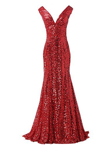 GRACE KARIN® Sequined Sparkle Evening Prom Dress Full Length CL6052 (Multi-Colored) -- Visit the image link more details.
