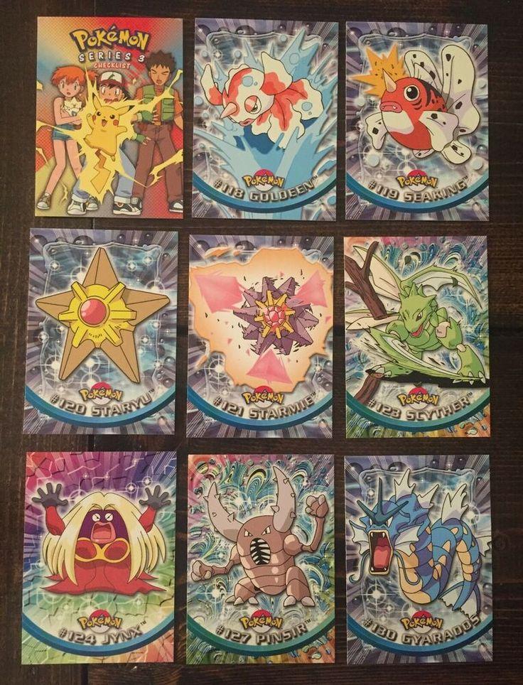 2000 topps pokemon series 3 lot 17 cards mew gyarados