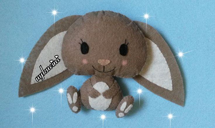 uykucini - keçe tavşan  felt rabbit