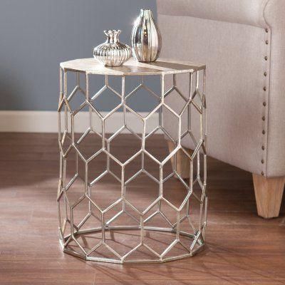 Southern Enterprises Clarissa Metal Accent Table - OC1504, SEI2087