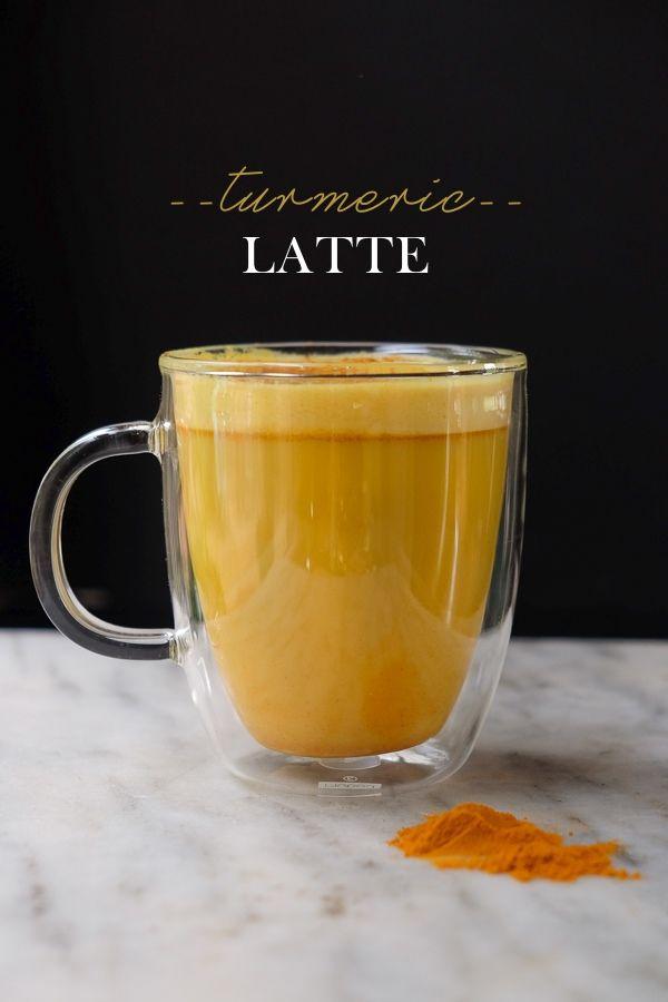 This Turmeric Latte is blend of vanilla almond milk with ground turmeric, cinnamon, coconut oil & a pinch of sea salt.