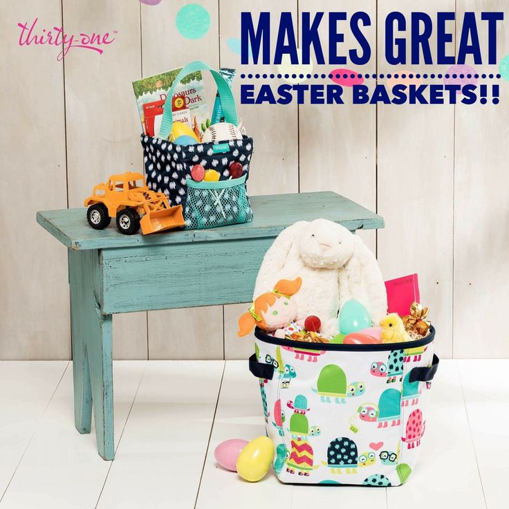 This Year Easter Is On Sunday April 16th These Thirty One Mini Storage Bins And