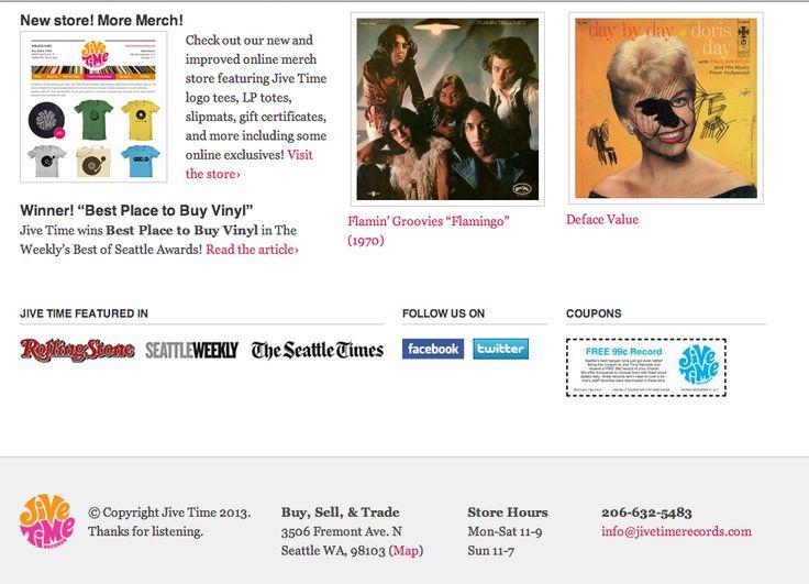 Jive Time Records bottom half | Wall Of Sound | Pinterest