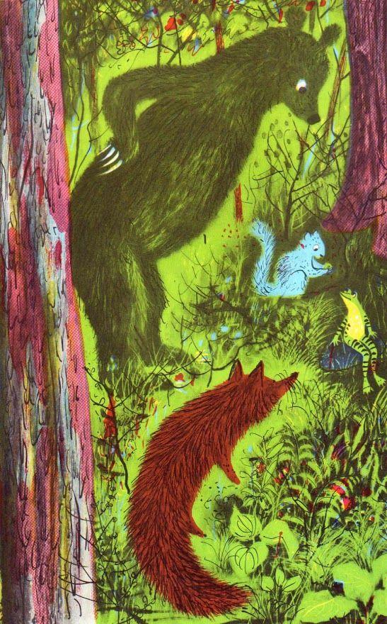 Vintage Kids & # 39; Bücher, die mein Kind liebt: Der Frosch im Brunnen