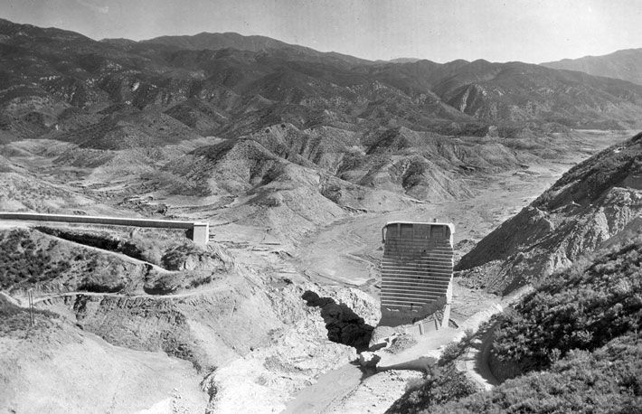 Remains of St. Francis Dam, 1928