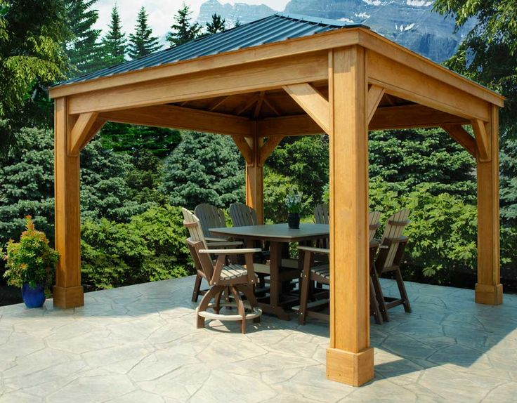Back yard pavillion everything for outdoor living - Gazebos de madera ...