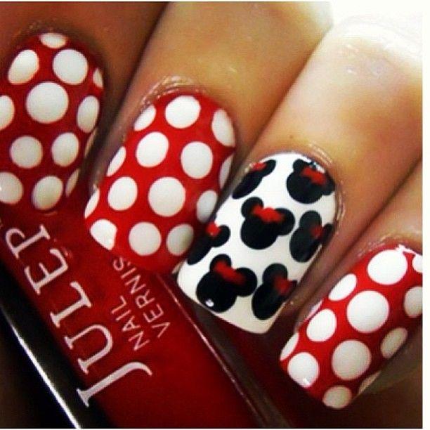 .@cutenailartdesign (Cute Nail Art ) 's- mickey mouse nails