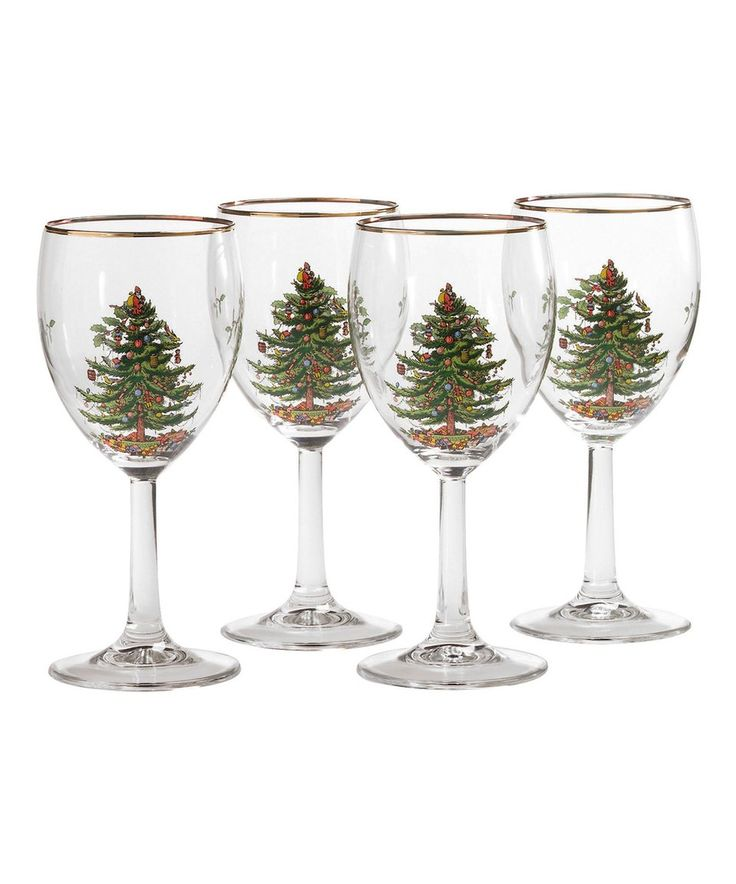 Take a look at this Christmas Tree Wineglass - Set of Four today!