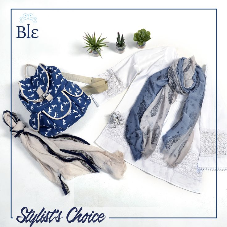 Like the beige-white-light blue combo selected this week by our stylist? You will like it even more if we tell you that now you can get the look -30 off! #StylistsChoice Get the combo here  http://www.ble-shop.com #BleResortCollection #Fashion #Style #Shopping #Sales