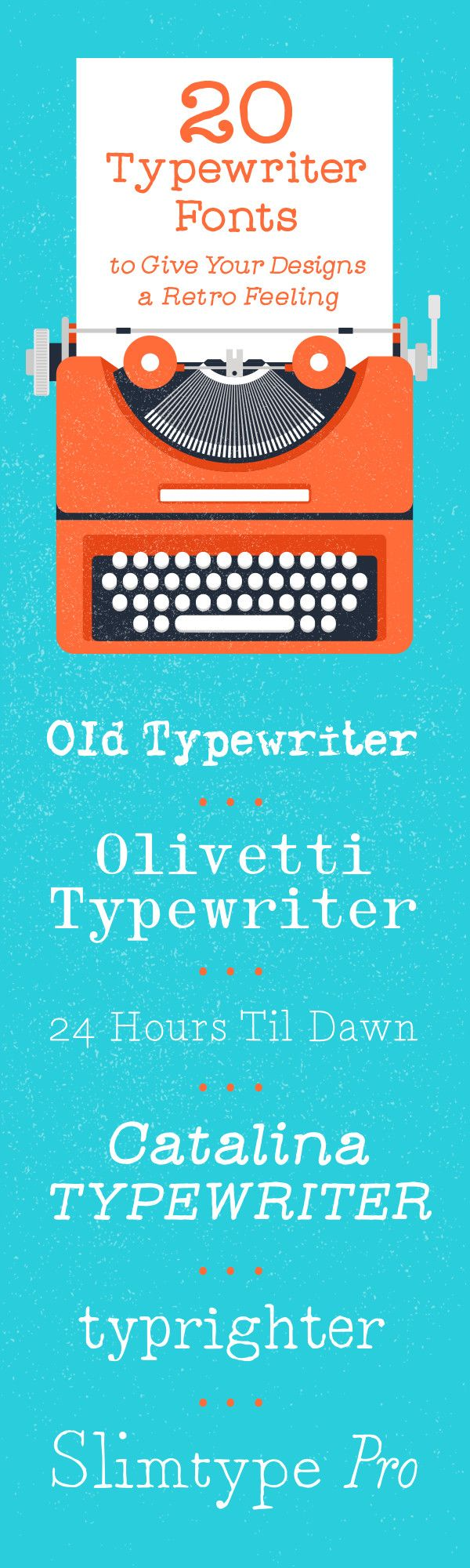On the Creative Market Blog - 20 Typewriter Fonts to Give Your Designs a Retro Feeling