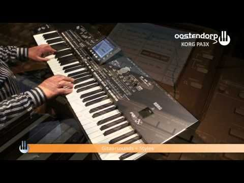 Korg PA3X Performance Demo Gitaarsounds - Oostendorp Music