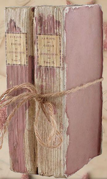 Vintage Dusty Pink Books