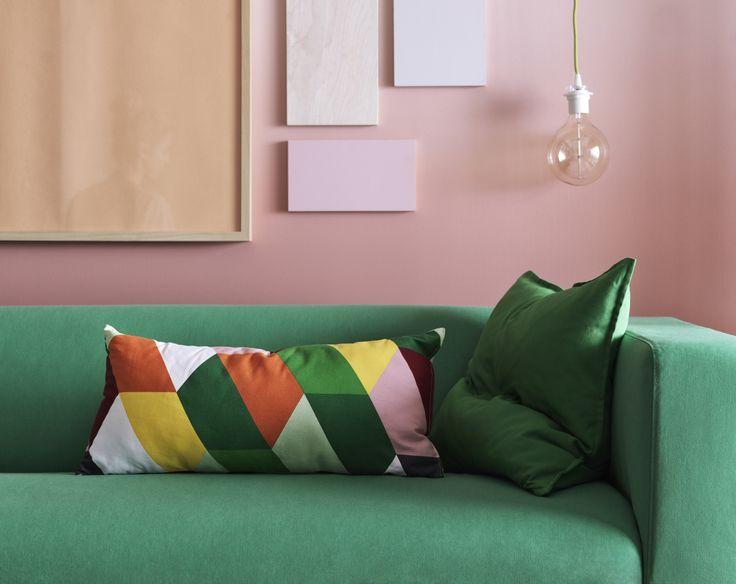 klippan bank ikea ikeanl zitbank woonkamer groen fris bank banken pinterest nook. Black Bedroom Furniture Sets. Home Design Ideas