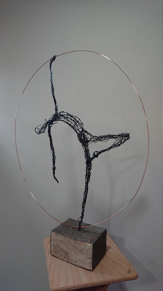 Dance Wire Sculpture, ballet dancer