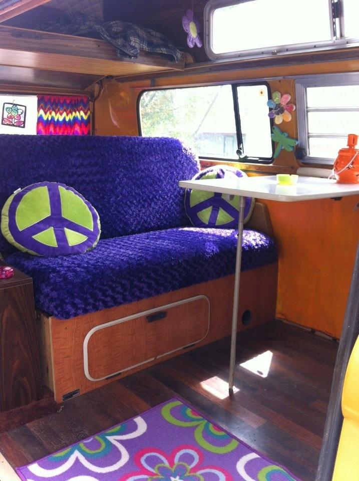 hippie van interior zoom zoom pinterest
