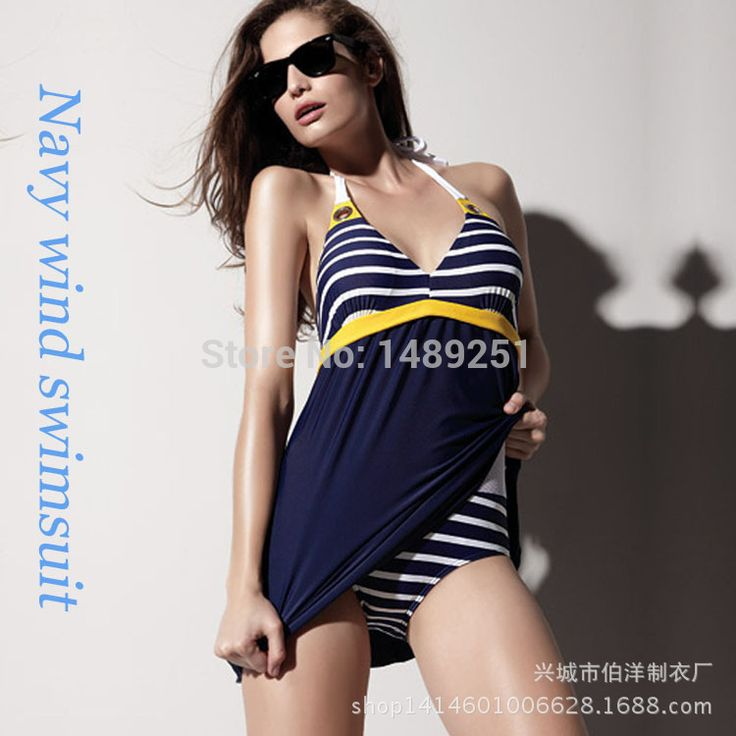 Find More One Pieces Information about Women Fashion Striped Plus Size One Pieces Swimwear Padded Navy Blue Halter Skirt Swimsuit Beachwear Bathing Suit Free Shipping,High Quality swimsuits for larger women,China swimsuit bottoms Suppliers, Cheap swimsuit bikini from Cheap Designer Socks on Aliexpress.com