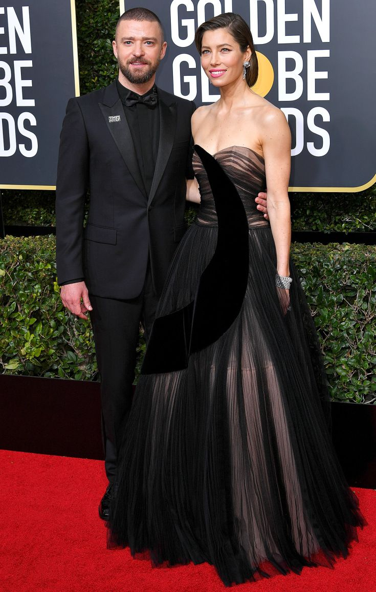 Justin Timberlake & Jessica Biel Golden Globes 2018