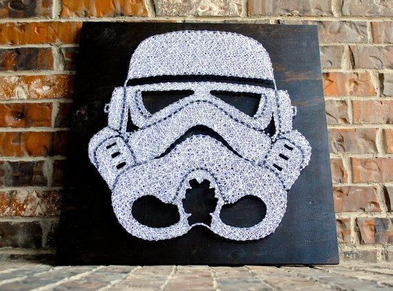 Storm Trooper Helmet String Art                                                                                                                                                                                 Más