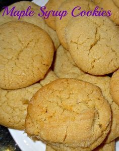 Maple syrup cookies for Canada
