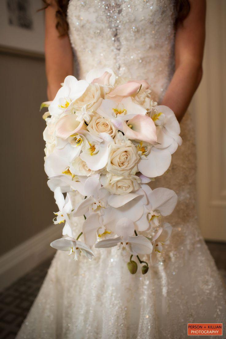 Boston Wedding Photography Bridal Bouquet Lily Wedding Flowers