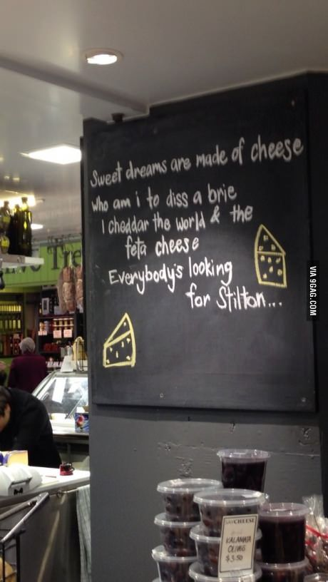 Well played, cheese.