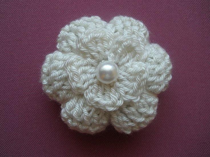 Crochet flower 3D/ Tutorial/