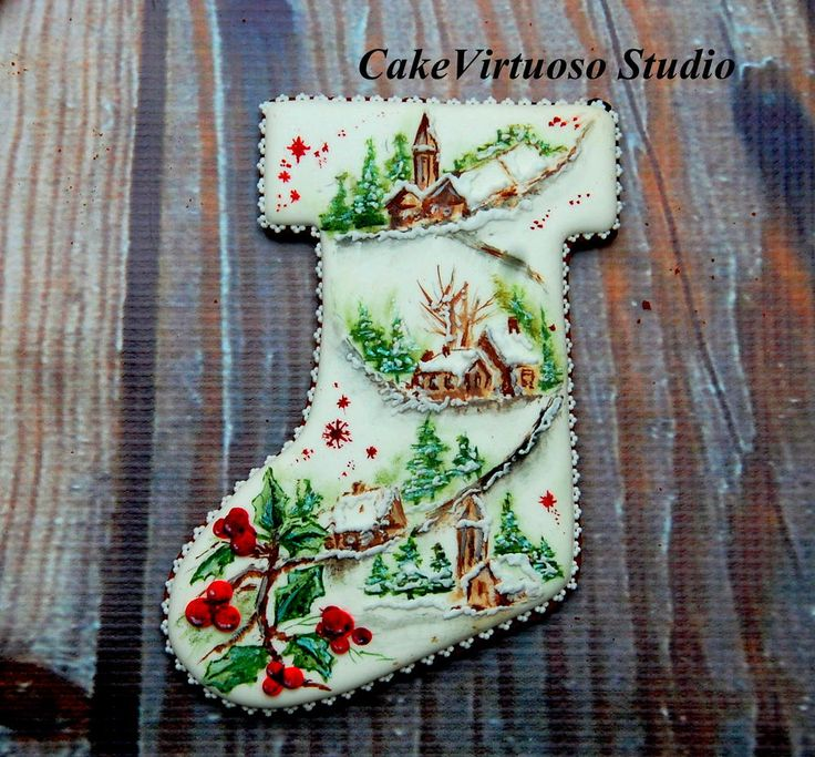 Christmas Cookie Cake Decorating Ideas : 17 Best images about Galletas {Navidad/Christmas} on ...