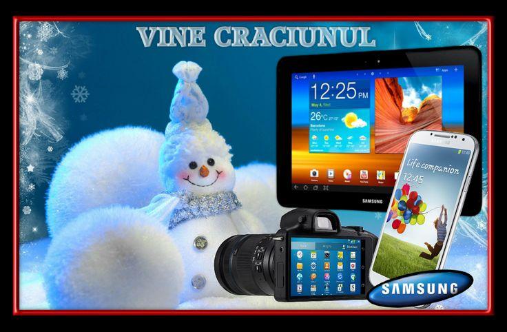 Urca o poza insotita de hastag-ul #VineCraciunul si intri automat in cursa pentru premiile saptamanale! Mai multe puncte, mai multe sanse de castig! @Samsung Romania