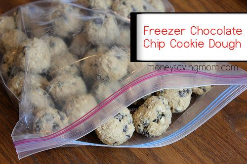 Make Ahead Chocolate Chip Cookie Dough: Thaw for 30-45 minutes when ready to use. Bakes in 10. Awesome to have in the freezer!