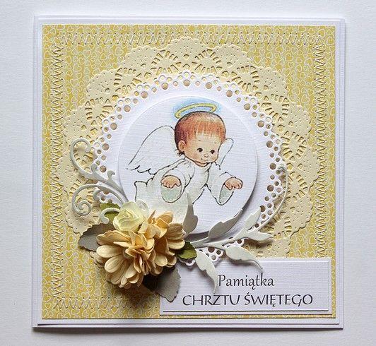 kartka na chrzest - pamiątka chrztu świętego