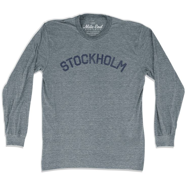Stockholm City Vintage Long Sleeve T-Shirt
