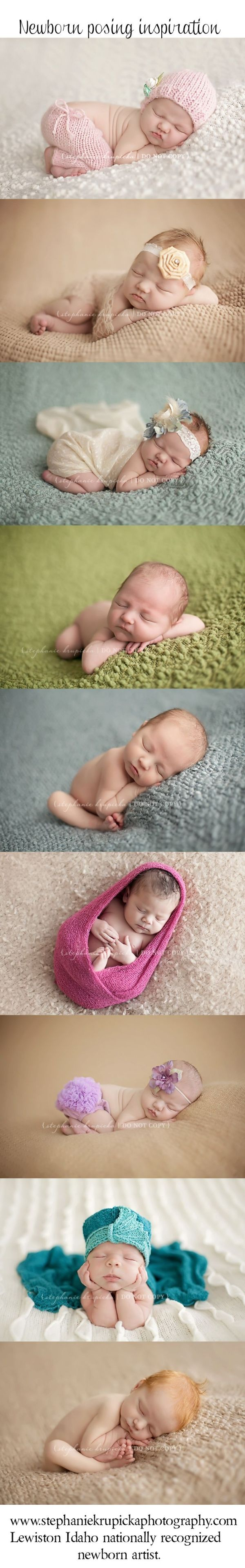 Newborn posing ideas - most of these are my current go-to's depending on the…