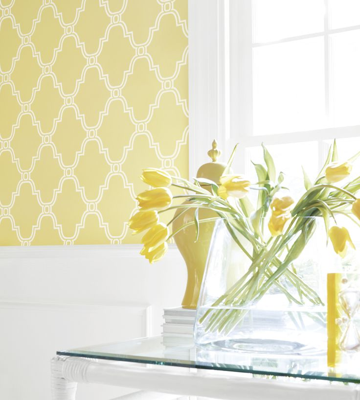 Interior design trend, Trellis geometric wallpaper | Stanbury Trellis Wallpaper by Thibaut | Jane Clayton