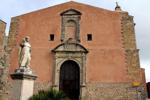 Erice Medieval Stone Village Church San Giulianno