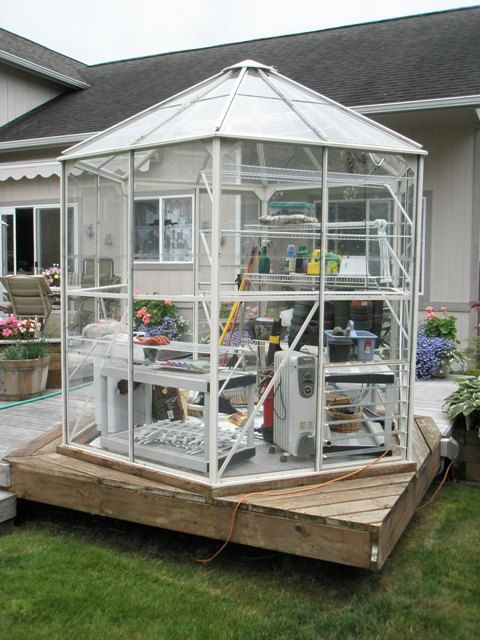 Gazebo Style Hexagonal Greenhouse Greenhouse Indoor
