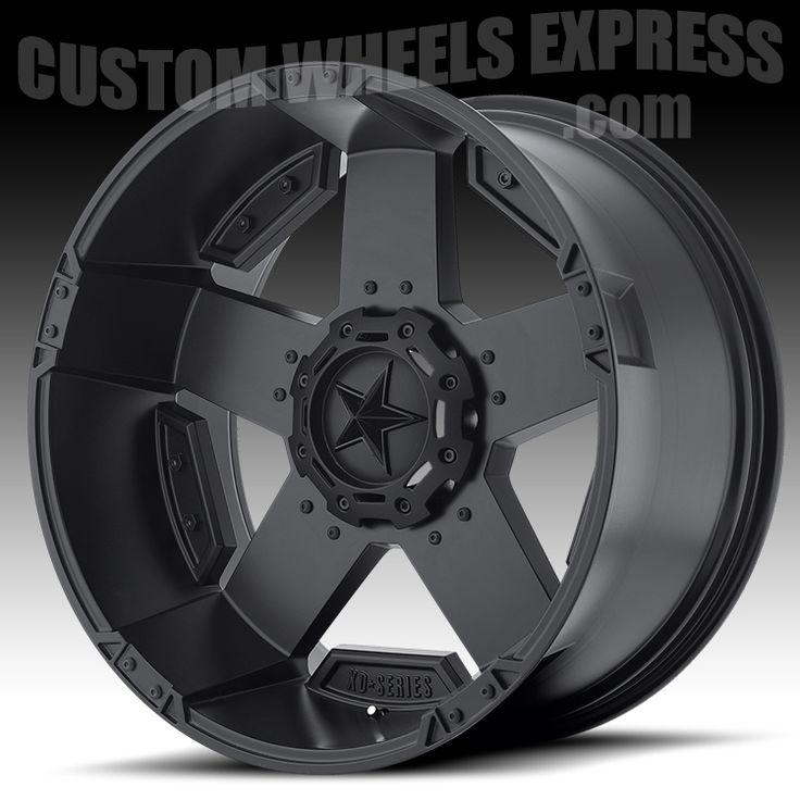 KMC XD811 RS2, 24x12 without inserts. - KMC XD Series XD811 RS2 Rockstar II Satin Black Custom Wheels Rims
