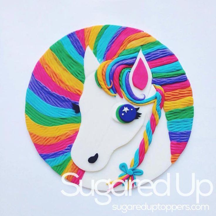 Lisa Frank Birthday Cake Toppers
