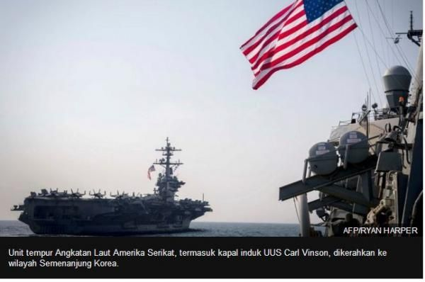Korut 'siap menenggelamkan' kapal induk Amerika Serikat
