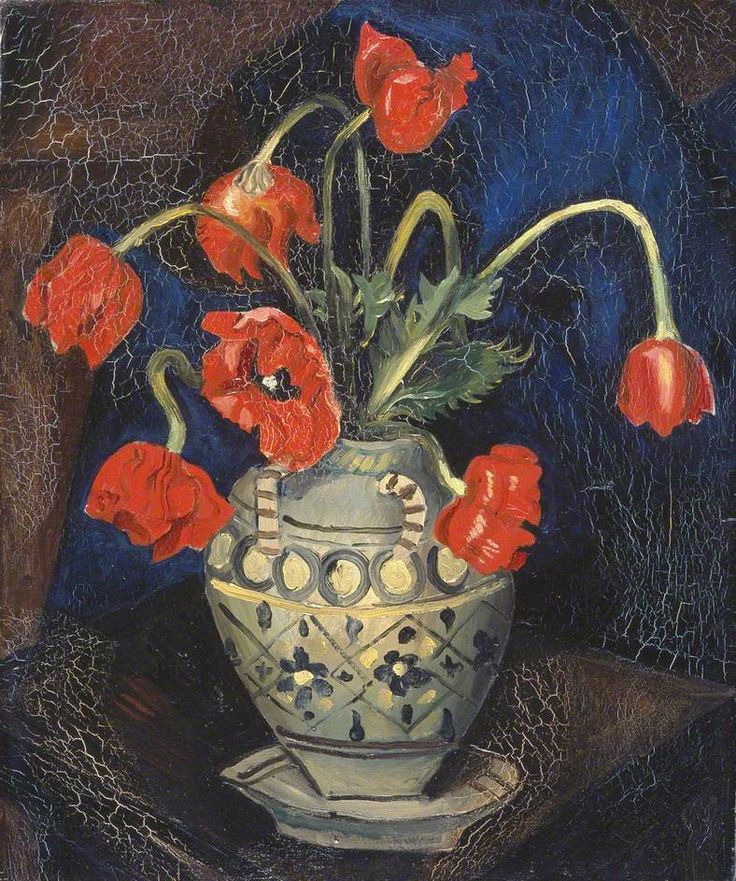 Poppies in a Decorated Jar (1925) by Christopher Wood, Manchester Art Gallery